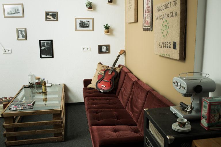 Chill-Out Area für die Entspannung zwischen den Aufnahmen